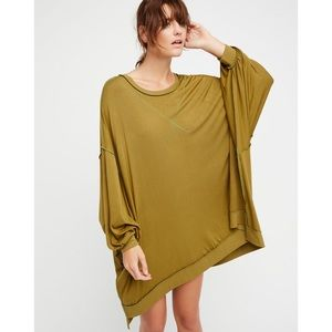 Free People We The Free Green So Smooth Tee XS